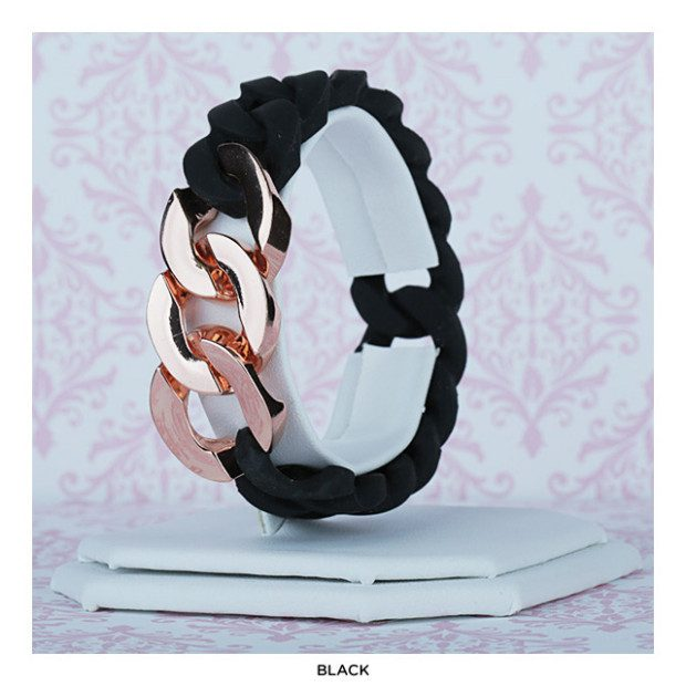 Two-Tone Silicone Link Bracelet Only $8 Shipped!