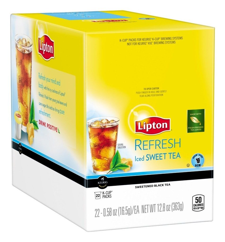 Lipton K-Cups, Refresh Iced Sweet Tea 22ct Only $5.71 + FREE Shipping!