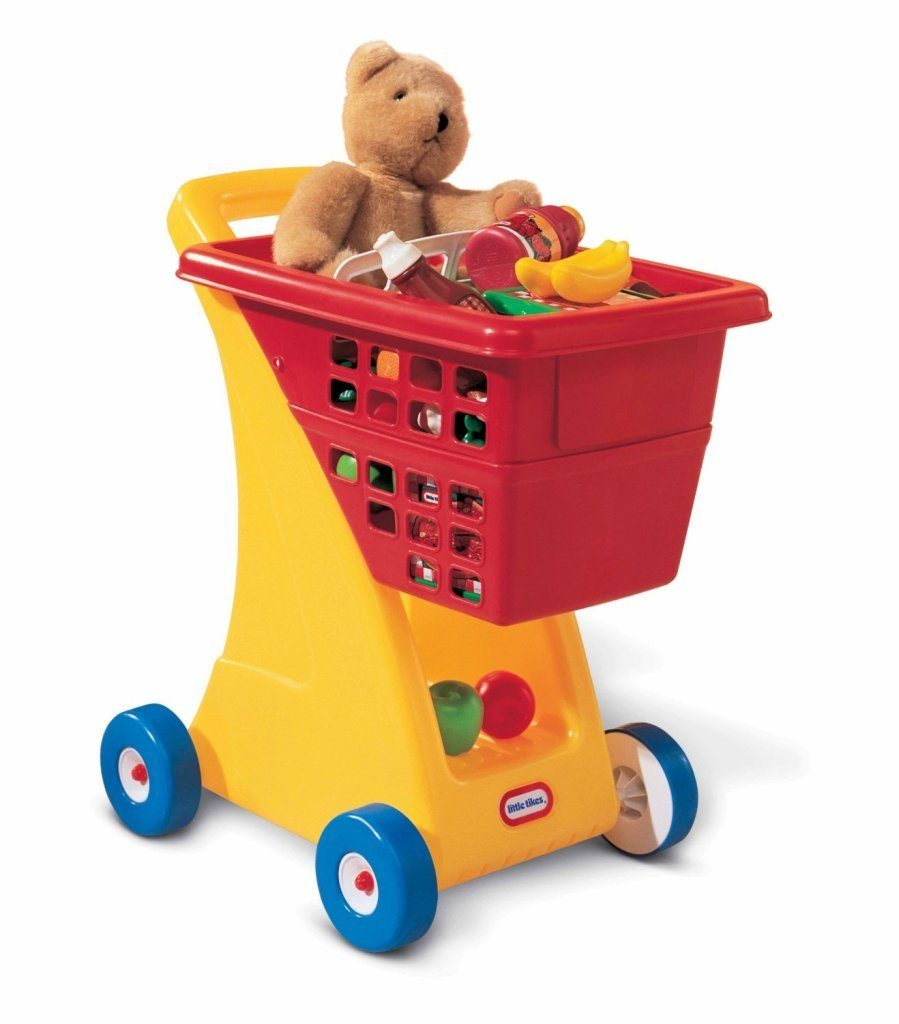 little tikes shopping cart - yellow-red