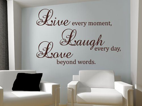 Live Every Moment Vinyl Wall Decal Only $2.59 + FREE Shipping!