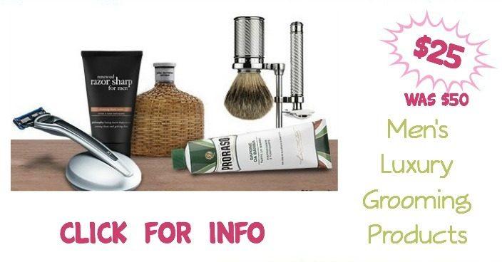 Buy $50 In Men's Luxury Grooming Products Get $25 Back!