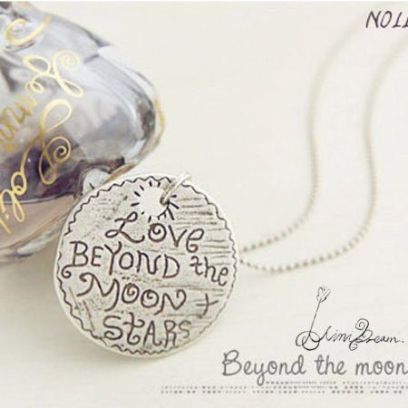 Love Beyond the Moon and Stars Necklace Just $1.99 SHIPPED!