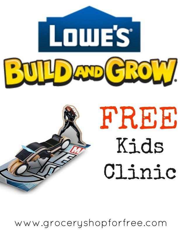 FREE Lowe's Build and Grow Clinic On July 11!