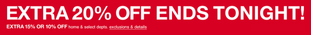 Extra 20% Off Ends Tonight at Macy's!