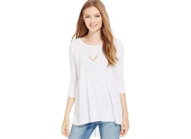 Juniors' Three-Quarter Sleeve Slub Tunic Top $13.59 At Macys!