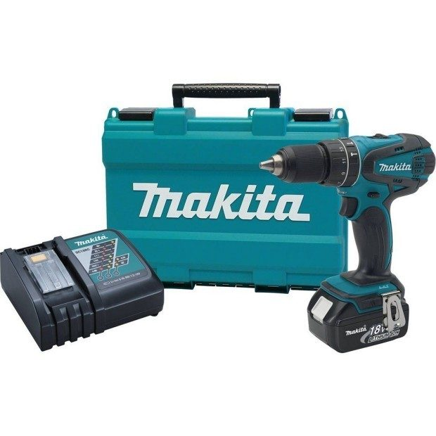 Makita 18V Cordless 1/2-Inch Hammer Driver / Drill Kit Only $99! (47% Off!)