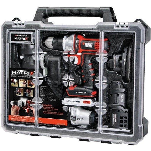 Black & Decker Matrix 6 Tool Combo Kit With Case Was $359 Now Just $149.99!