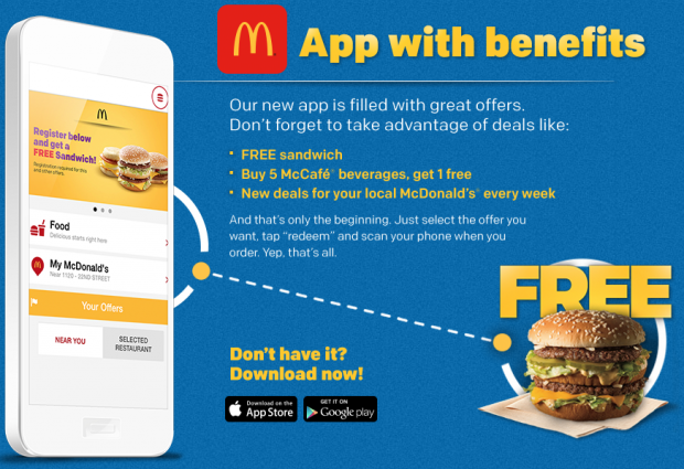 FREE Sandwich From McDonald's!