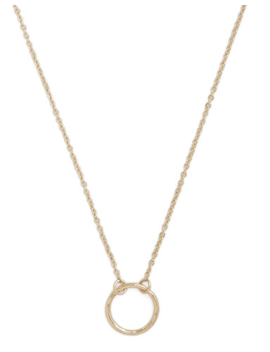 A Familiar Ring Necklace in Gold Only $7.99