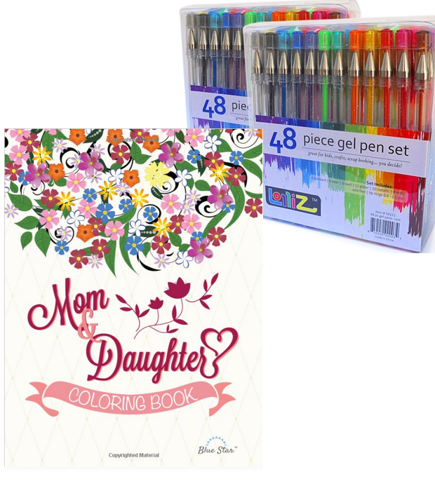 LolliZ Gel Pens (2 Sets) Just $14.99 + Mom & Daughter Coloring Book Just $9.99!