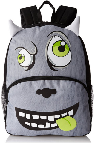 Mystic Apparel Grey Monster With Horns Backpack Just $7.50 Down From $30!