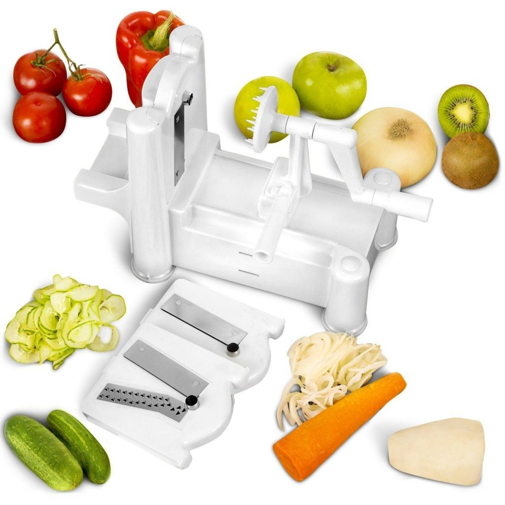 multi-blade spiral vegetable slicer