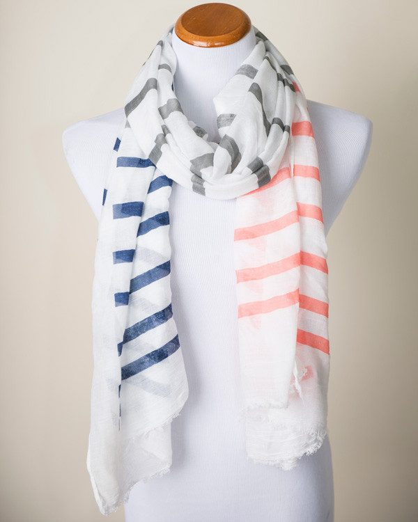 Brandy Multi-Striped Scarf Only $14.95!