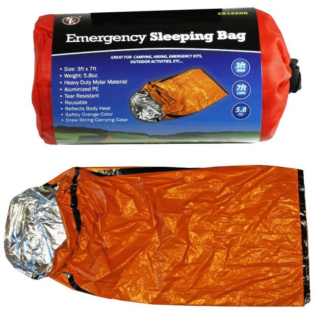 Aluminized Emergency Sleeping Bag w/ Case Just $7.49 Ships FREE!