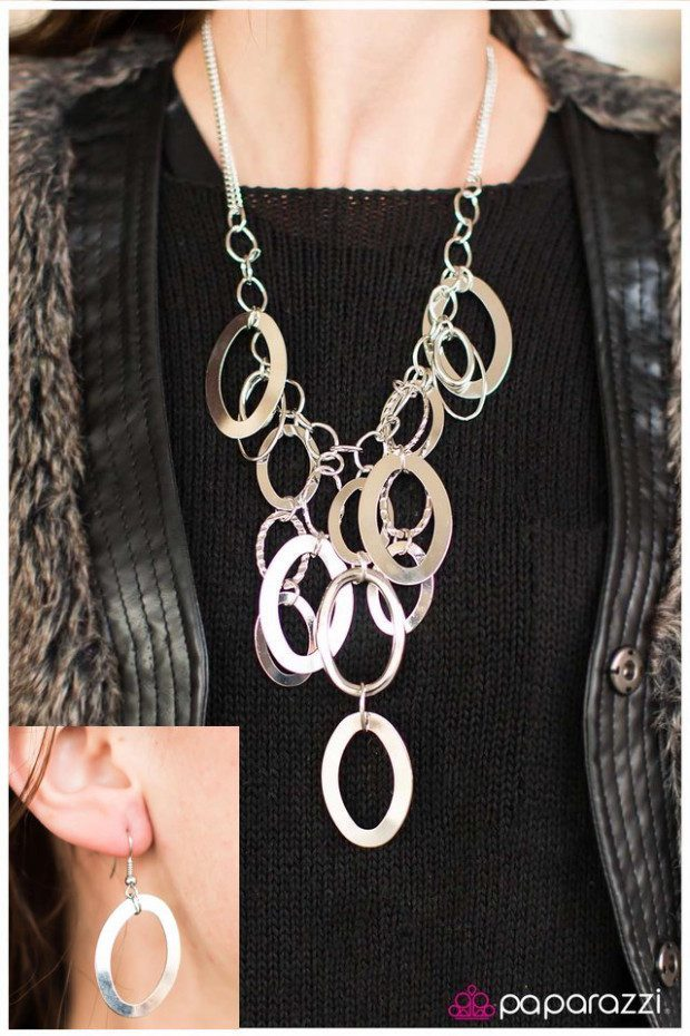 Silver Spell Necklace And Matching Earrings Only $5!