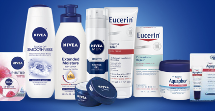 nivea and eucerin products