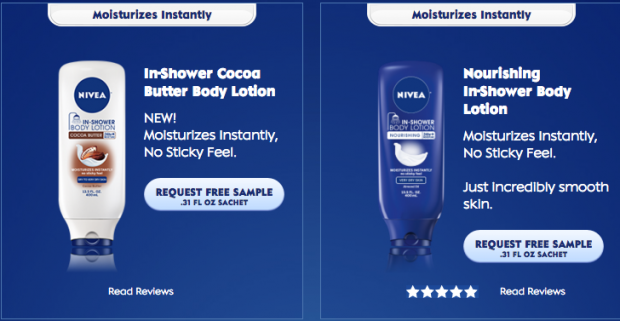 FREE In-Shower Body Lotion From Nivea!