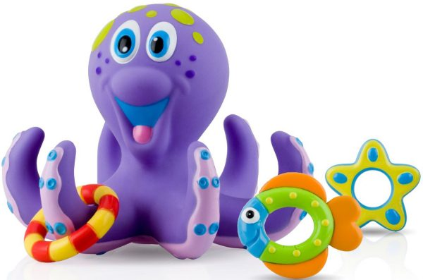 nuby octopus bath time toss toy