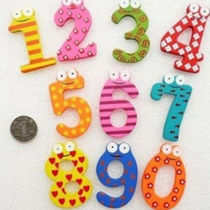 Colorful Wooden Number Magnets Just $2.43 Shipped!