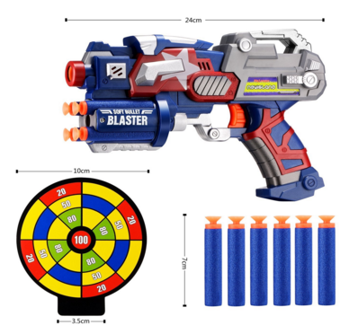 Newisland Big League Blaster Gun With Foam Darts And Dartboard Just $11 Down From $23!