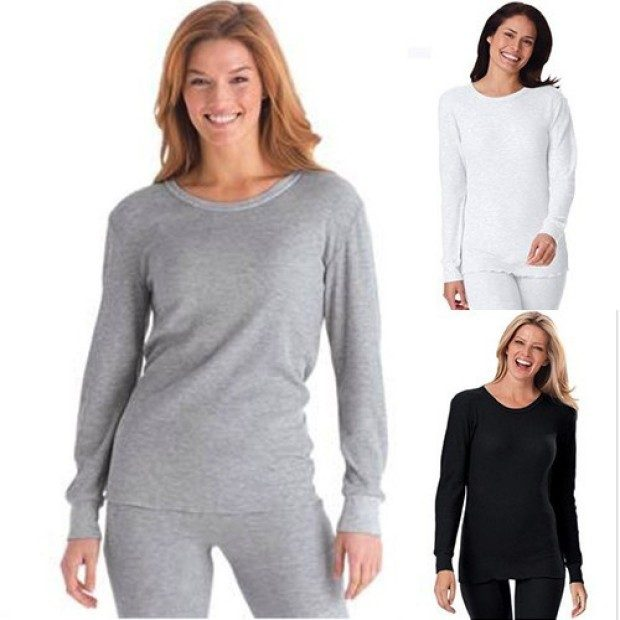 Women's Waffle Knit Thermal Sleepwear Set Only $12.99 Plus FREE Shipping!