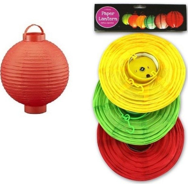 Battery Operated Paper Lanterns - 3 Pk Only $9.99 Plus FREE Shipping!