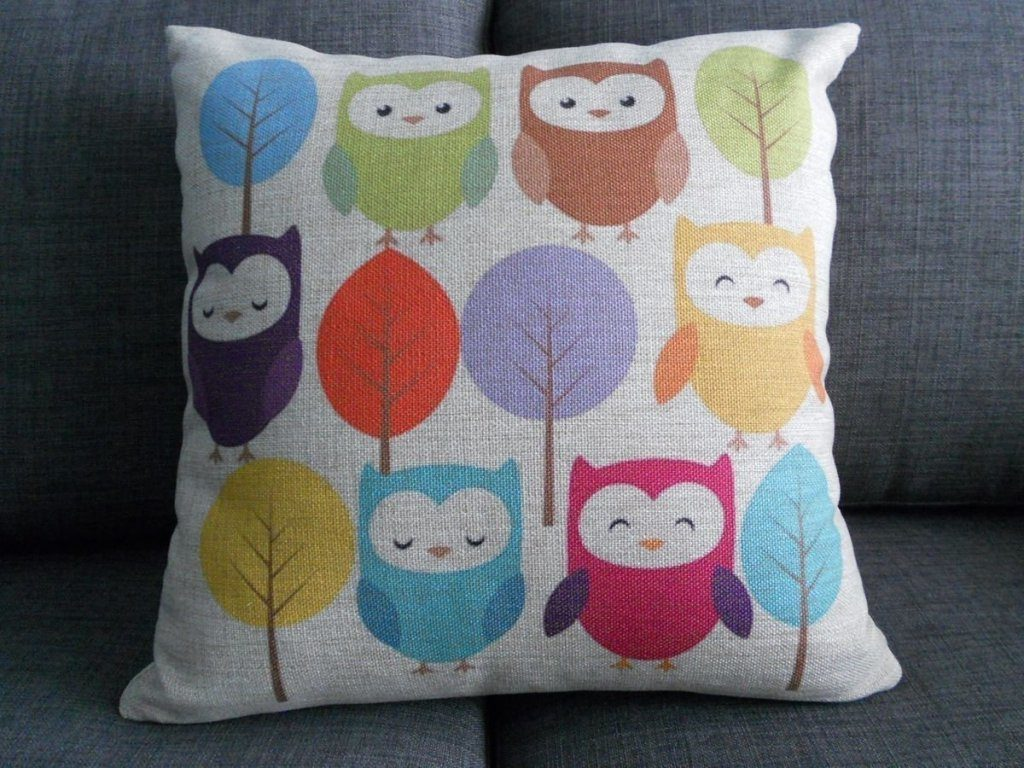 Decorative Owl Pillow Cover Just $6.59 + FREE Shipping!