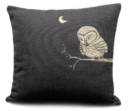 Sunny Outlets Owl In The Dark Pillow Cover Just $2.68 Down From $37.80!
