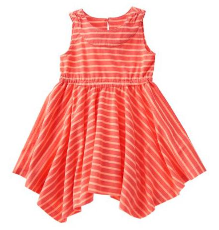 Handkerchief Hem Stripe Dress Only $10!
