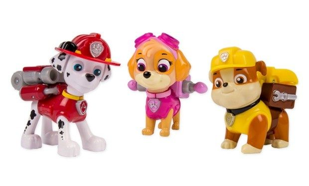 Save Up To 35% On Select Paw Patrol - 3pk Set Action Pack Pups Marshal/Skye/Rubble Only $13.95!