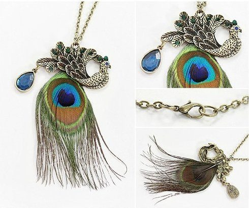 Vintage-Style Peacock Statement Necklace Only $4.99 Shipped!