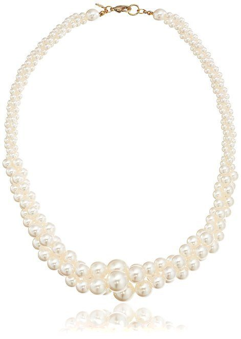 Three-Strand Simulated Pearl Necklace Only $10!