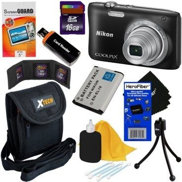 Nikon Coolpix 20.1 MP Point & Shoot Digital Camera Bundle $99.95! (Reg. $235!)