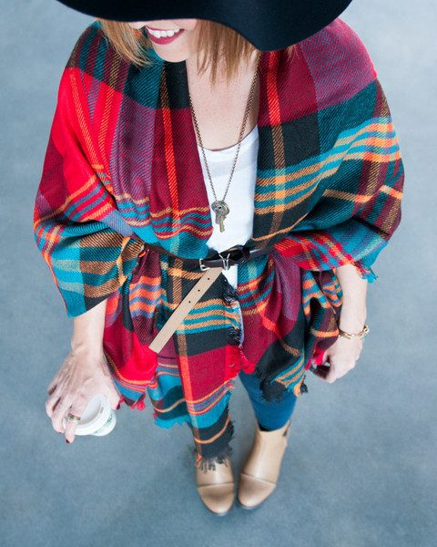 Adrienne Plaid Shawl Only $19.95 Shipped!