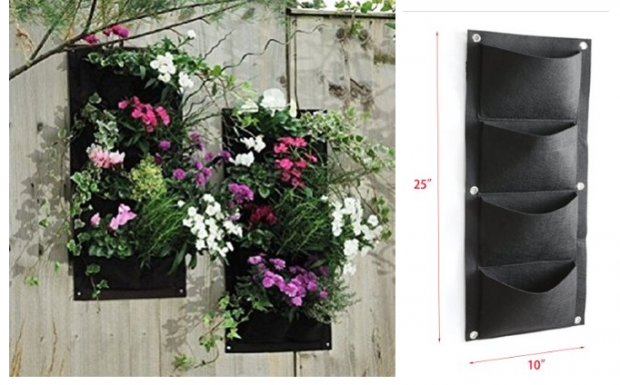 4 Pocket Vertical Wall Garden Planter Only $6.95!