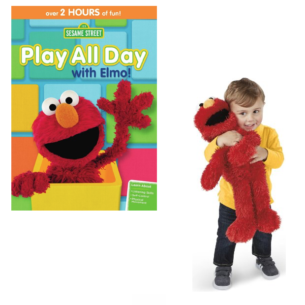 Newly Released Play All Day With Elmo DVD & Plush Toy!