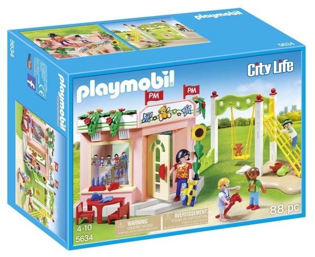 PLAYMOBIL Preschool with Playground Playset Building Kit Just $13.41!