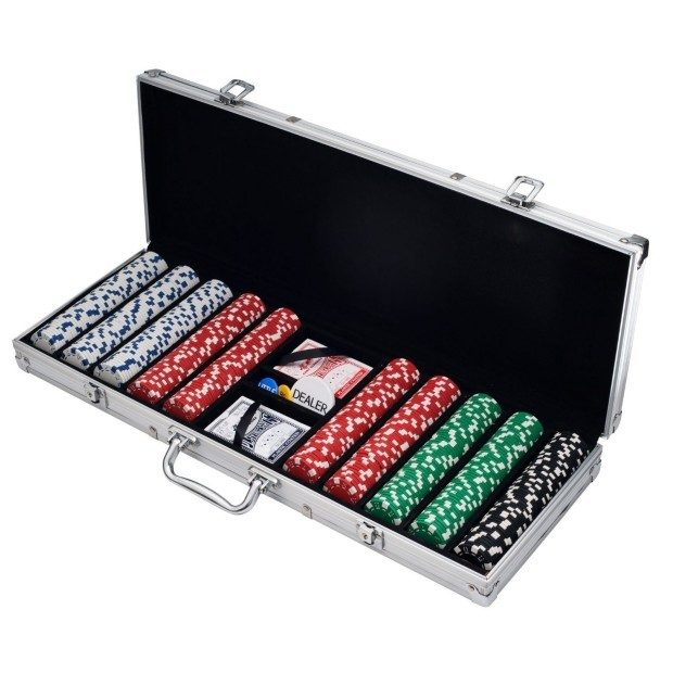 Trademark Poker 500 Dice Style 11.5-Gram Poker Chip Set Was $70 Now Only $47.95!