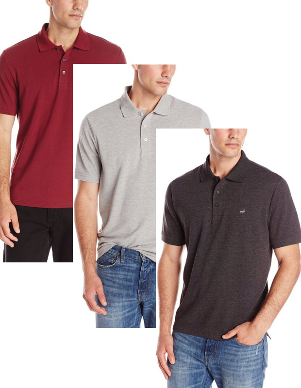 Oxford NY Men's Pique Polo Shirt Starting At $2.82!