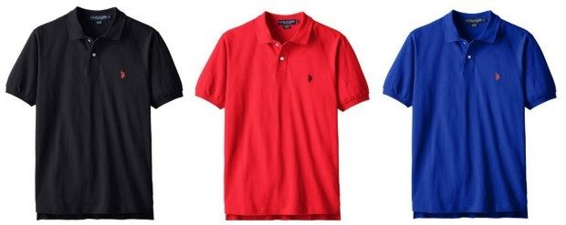 U.S. Polo Assn. Men's Solid Polo Shirts Only $17.12!