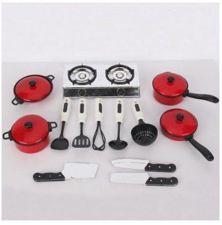 pots and pans kitchen play set