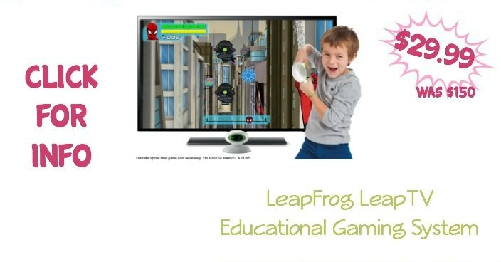 LeapFrog LeapTV Educational Gaming System Only $29.99! (Was $150)