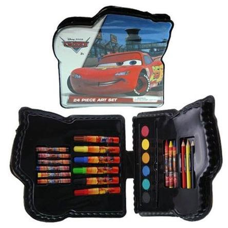 Disney Cars Shaped 24pc Art Set in Plastic Case Drawing Kit Just $6.99 Down From $49.99 At Sears!