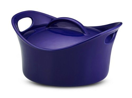 Rachael Ray Stoneware 2 3/4 Quart Covered Casserole, Blue Just $21.95!