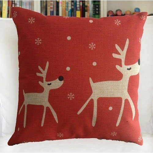 Reindeer Pillow Cover Just $3.25 + FREE Shipping!