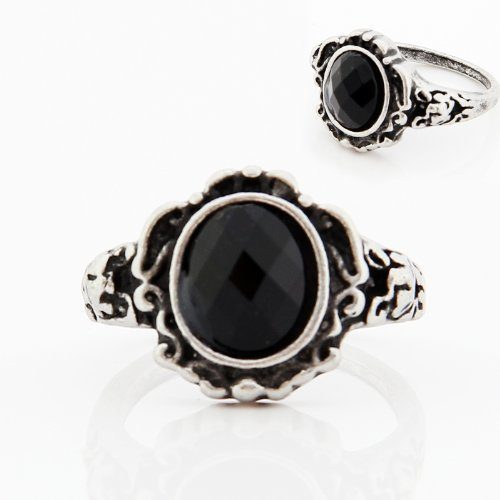Retro Black Onyx Ring Only $4.45 SHIPPED!