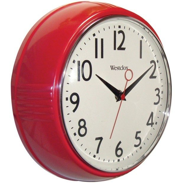 Westclox Retro 1950 Kitchen Wall Clock Only $12.99!