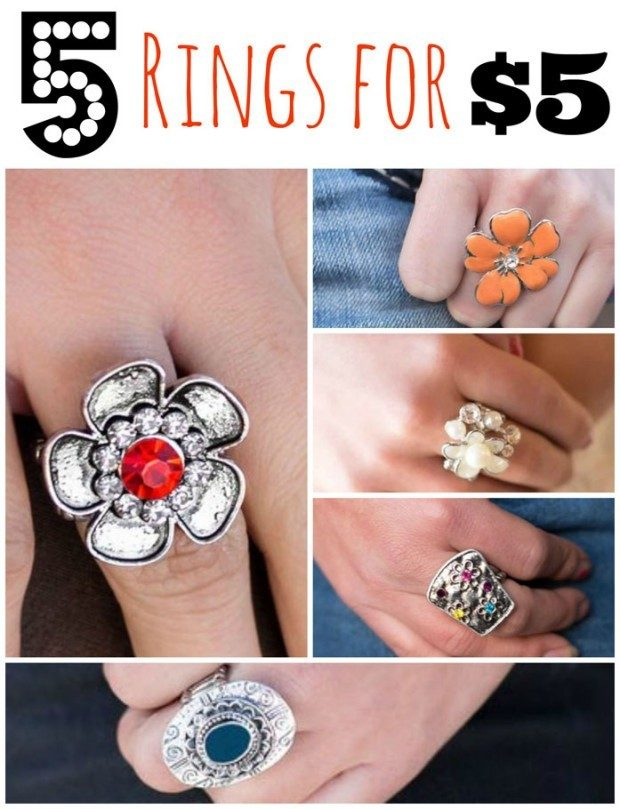 5 Gorgeous Rings For $5!