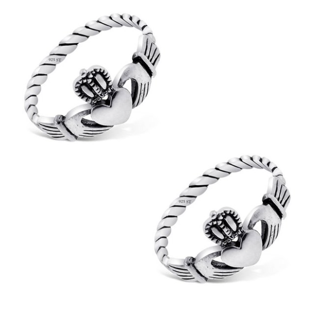 Sterling Silver Irish Claddagh Ring Only $6.96 Shipped!