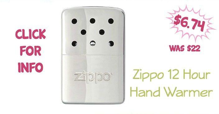 Zippo 12 Hour Hand Warmer Only $6.74 (Reg $22)